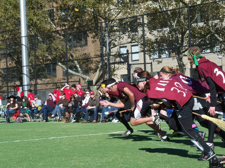 umass amherst take off in a quidditch game!