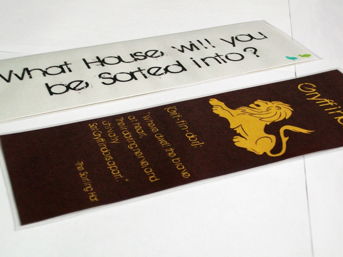 Gryffindor House Bookmark
