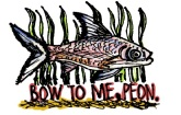 Bow To Me fish. Stupid Fish series, Volume 1. Marker and digital.