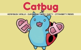 Catbug, digital tea label