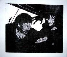 Daevas, woodblock relief print