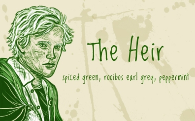 The Heir/Draco Malfoy, digital tea label