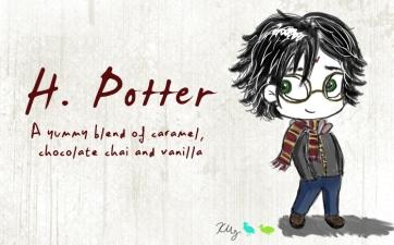 H. Potter, digital tea label