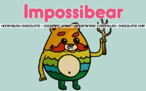 Impossibear, digital tea label