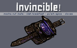 Invincible!, digital tea label