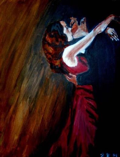 Moulin Rouge- Warm; acrylic paint