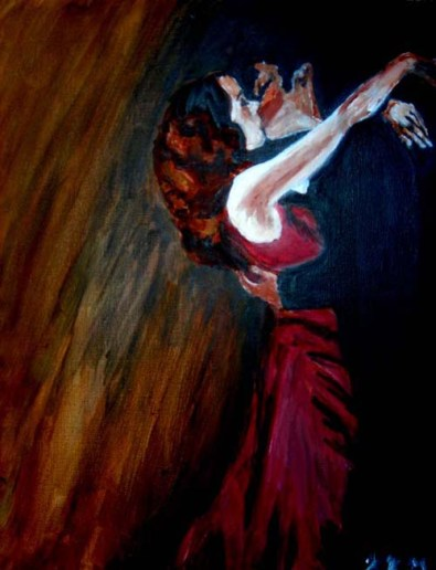 Moulin Rouge- Warm; acrylic paint