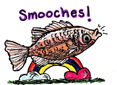 Smooches fish. Stupid Fish series, Volume 1. Marker and digital.