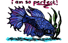 So Perfect fish. Stupid Fish series, Volume 1. Marker and digital.