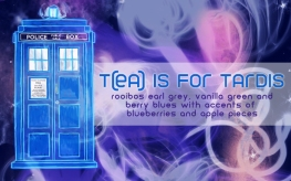 T(ea) is for TARDIS, digital tea label
