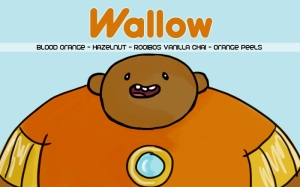 Wallow, digital tea label