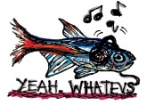 Whatevs fish. Stupid Fish series, Volume 1. Marker and digital.