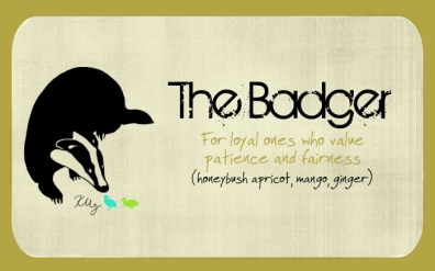 The Badger, digital tea label