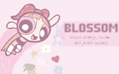 Blossom, digital tea label