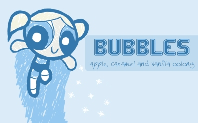 Bubble, digital tea label