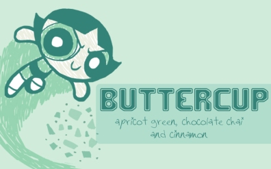 Buttercup, digital tea label