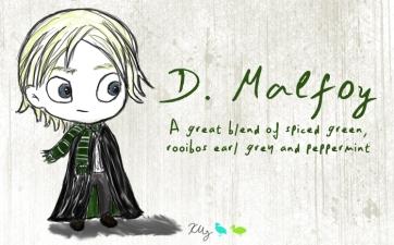 D. Malfoy, digital tea label