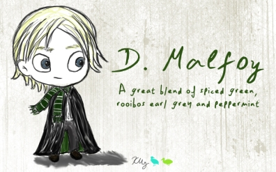 D. Malfoy, digital tea label
