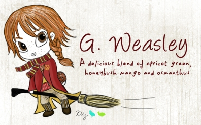 G. Weasley, digital tea label