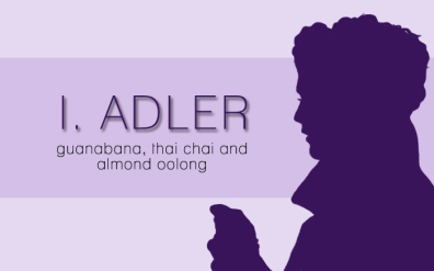 I. Adler, digital tea label