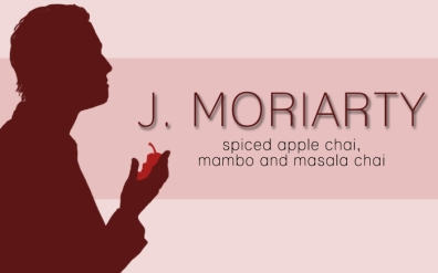 J. Moriarty, digital tea label