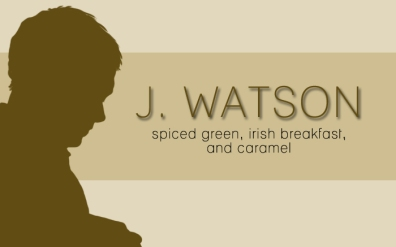 J. Watson, digital tea label
