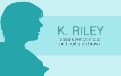 K. Riley, digital tea label