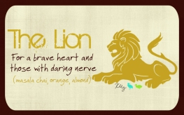 The Lion, digital tea label