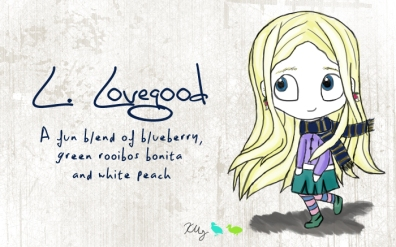L. Lovegood, digital tea label