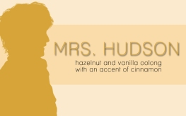 Mrs. Hudson, digital tea label