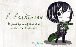 P. Parkinson, digital tea label