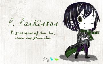 P. Parkinson, digital tea label
