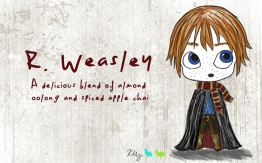R. Weasley, digital tea label