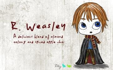 R. Weasley, digital tea label