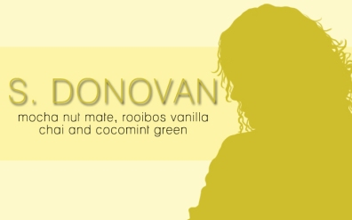 S. Donovan, digital tea label