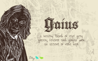 Gaius, digital tea label