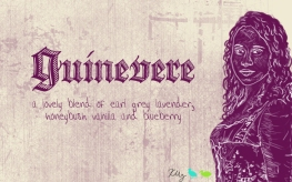Guinevere, digital tea label