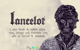 Lancelot, digital tea label