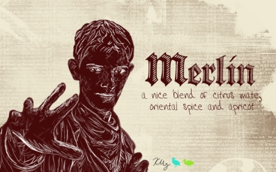 Merlin, digital tea label
