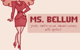 Ms. Bellum, digital tea label