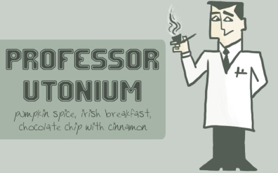 Professor Utonium, digital tea label