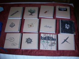 Custom Harry Potter spiral notebooks; back