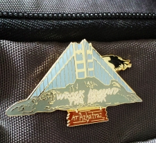 2009 Azkatraz Wrock Around the Rock Logo, seen on lapel pin