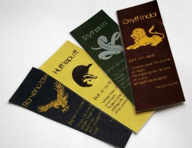 Hogwarts Houses bookmarks