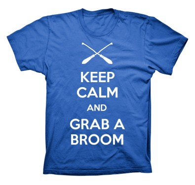 Keep Calm and Grab a Broom t-shirt design; seen at IQA NERC 2012