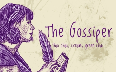 The Gossiper/Pansy Parkinson, digital tea label