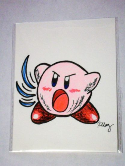 Kirby, marker and gelly rolls