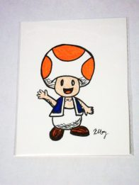 Paper Toad, marker and gelly rolls