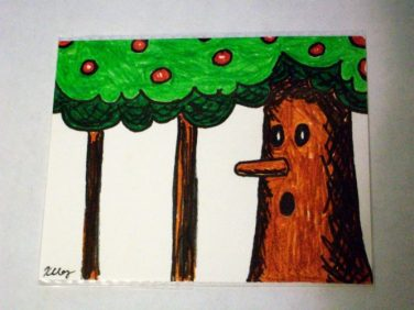 Whispy Woods, ink and markers