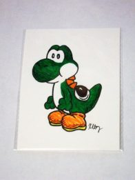 Paper Yoshi, marker and gelly rolls